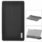 ROCK Protective PU + PC Case w/ Stand for Google Nexus 7 II - Black