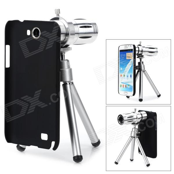12X Zoom Camera Lens Telescope for Samsung N7100 - Silver + Black 10x zoom telescope lens with tripod