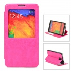 Protective PU Leather Case for Samsung Note 3 - Deep Pink