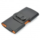 Waist Hanged Protective PU Leather Case for Samsung Galaxy Note 3 - Black