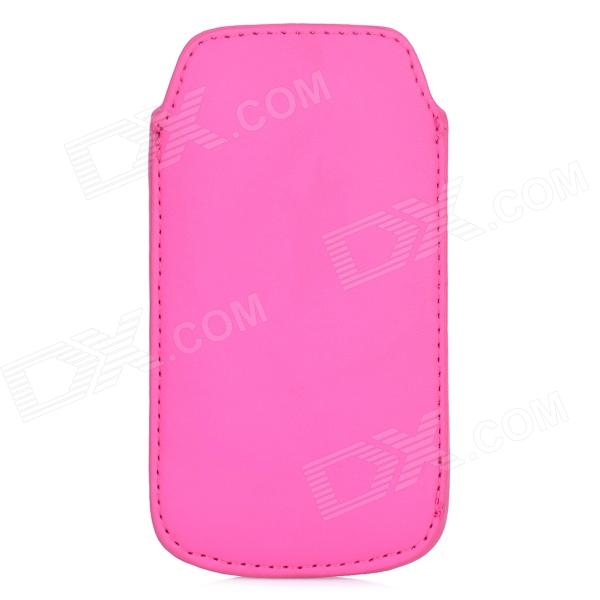 Protective PU Leather Pouch Bag for Samsung Galaxy S4 Mini i9190 - Deep Pink