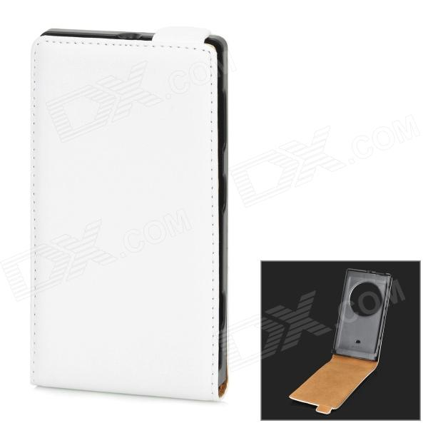 Stylish Protective PU Leather Case for Nokia Lumia 1020 - White