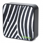 Ounuo Square Shaped Zebra Pattern 5V 8000mAh Portable External USB Power Bank - Black + White