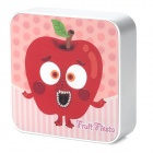 Ounuo Square Shaped Apple Pattern 5V 8000mAh Portable External USB Power Bank - Silver + Pink + Red