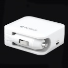 BOGU 1106CBP Dual-USB 2000mAh Power Bank w/ Car Charger Adapter - White
