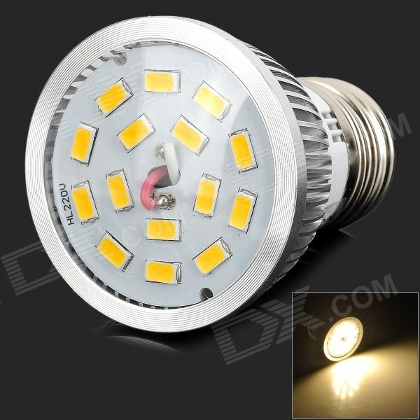 Lexing E27 6W 500LM 3500K Warm White Light SMD 5630 LED Spotlight Lamp - Silver + Yellow (85~265V) lexing lx lzd 1 e14 3w 200lm 3500k 6 smd 5730 led warm white lamp bulb 85 265v