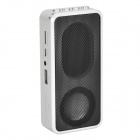 MUSIC ANGEL JH-MD09 Portable Media Player Speaker w/ TF / FM - Silver + Black + White