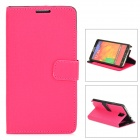 Stylish Oracle Lines Style Protective PU Leather Case for Samsung Galaxy Note 3 N9000 - Deep Pink