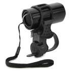 ZHISHUNJIA SX-185A Aluminium Alloy 60lm 1-LED White Light Bike Front Flashlight w/ Holder - Black