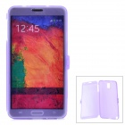 Protective Silicone Flip-open Case for Samsung Galaxy Note 3 N9006 - Translucent Purple
