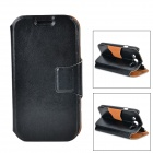 Protective PU Leather Case w/ Card Slot for Samsung Galaxy S3 i9300 - Black