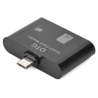 Micro USB OTG Card Reader for Samsung Galaxy S3 i9300 / N7100 / S4 i9500 - Black