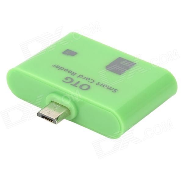 OTG Smart Card Reader for Samsung i9300 / i9500 / i9200 / N9000 - Green samsung rs 552 nruasl