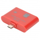 OTG Smart Card Reader  for Samsung i9300 / N7100 / i9500 / i9200 - Red