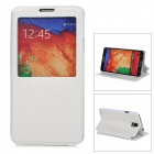 Silk Style Protective PU Leather + Plastic Case for Samsung Galaxy Note 3 N9000 - White