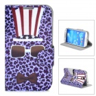 Leopard Pattern Protective Flip-open PU Leather Case for Samsung Galaxy S4 i9500