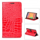 Crocodile Grain Protective PU Leather Case for Samsung Galaxy Note 3 N9000 - Red