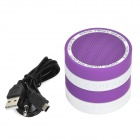 Portable 2-CH Bluetooth v3.0 Bass Speaker w/ Microphone / TF - Purple + White