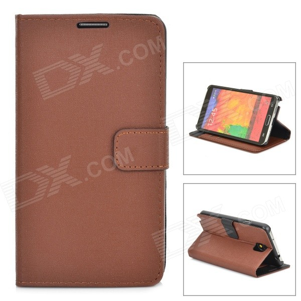 Stylish Oracle Lines Style Protective PU Leather Case for Samsung Galaxy Note 3 N9000 - Brown cool snake skin style protective pu leather case for samsung galaxy s3 i9300 brown