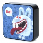 Ounuo Square Shaped Rabbit  Pattern 5V 8000mAh Portable External USB Power Bank - Black + Grey