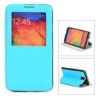 Protective PU Leather Case for Samsung Galaxy Note 3 N9000 - Blue