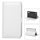 Lychee Grain Style Protective PU Leather Case for LG P760 Optimus L9 - White