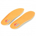 WF1210 Top Pigskin + Latex Shoe Pads / Insoles - Light Yellow + White (Pair)