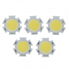 WT-QMW5 5W 500lm 6200K White Light LED Light Source - Silver + Yellow (5 PCS / 15~16.5V)