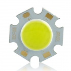 7W 95lm 6500K White Light COB LED Light Source - Yellow + Silver (DC 20~24V)