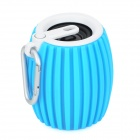 Grenade Style Portable Bluetooth v3.0 + EDR 2-CH Speaker w/ Microphone / TF - Blue + White