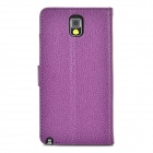 Lychee Grain Style Protective PU Leather Case for Samsung Galaxy Note 3 N9000 - Purple