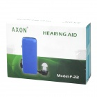 AXON F-22 con cable In-Ear Hearing Aid Set - Azul + Negro (1 x AA)