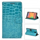 Alligator Pattern Protective PU Leather Flip-open Case for Samsung Galaxy Note 3 N9000 - Blue