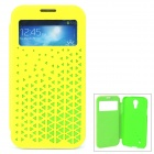 Joyroom Protective Flip Open PU + PC Case w/ Display Window for Samsung S4 i9500 - Yellow + Green