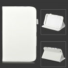 Lychee Grain Style Protective PU Leather Case for Samsung Galaxy Tab 3 8.0 T310 - White