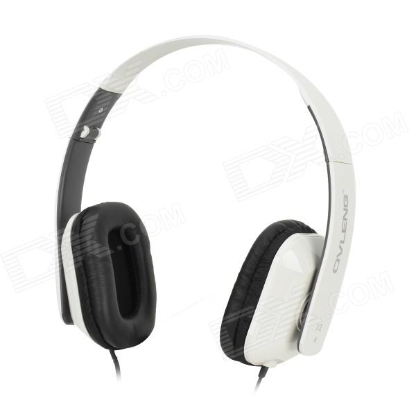 OVLENG X2 Stylish Folding Headphones w/ Microphone - White + Black монитор 24 acer v246hlbd черный tn 1920x1080 250 cd m^2 5 ms dvi vga um fv6ee 001