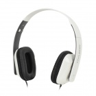 OVLENG X2 Stylish Folding Headphones w/ Microphone - White + Black