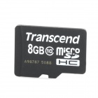 Transcend Micro SDHC / TF Memory Card - Black + White (8GB)