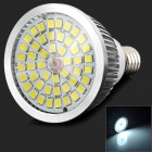 Lexing E14 6.5W 600LM 6000K White Light SMD 2835 LED Spotlight Lamp - Silver + White (85~265V)