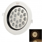 Cnlight 18W 1000lm 18-LED 3500K Warm White LED Recessed Ceiling Lamp - White (220~240V)