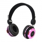 AT-BT804 Bluetooth v2.1 Headphones w/ Microphone for Iphone / Samsung - Black + Deep Pink
