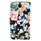 Flower Pattern Protective Flip-open PU Leather Case for Samsung Galaxy S4 i9500