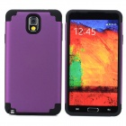 2-in-1 Protective Silicone Back Case for Samsung Galaxy Note 3 - Black + Purple
