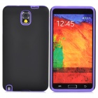 Protective Frosted PC + Silicone Back Case for Samsung Galaxy Note 3 - Black + Purple