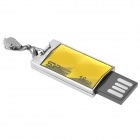 SP 850 Zinc Alloy USB 2.0 Flash Drive - Yellowgreen + Silver (16GB)