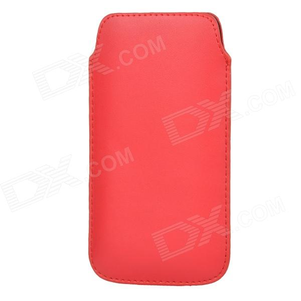 Protective PU Leather Pouch Bag for Samsung i9295 - Red