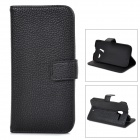 Lychee Grain Style Protective PU Leather Case for Moto X Phone - Black