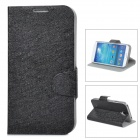 Ice Crystal Grain Style Protective PU Leather Case for Samsung Galaxy S4 i9500 - Black