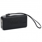 Cool Orange Rechargeable 4000mAh Mobile Power Bank w/ Aroma - Black