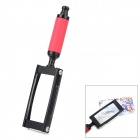 TH-8009 3X Handheld Plastic + Iron + Glass Lens Magnifier - Black + Red